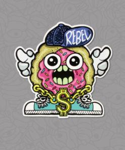 Shop Rebel Hip Hop Donut Sticker