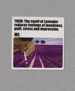 Shop Lavender Snort Sticker