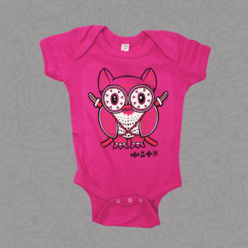 Shop Samurai Owl Hot Pink Onesie by Metal