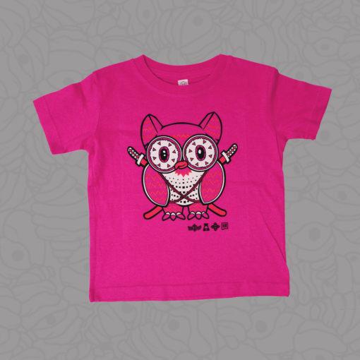 Shop Samurai Owl Hot Pink Toddler Tee by Metal