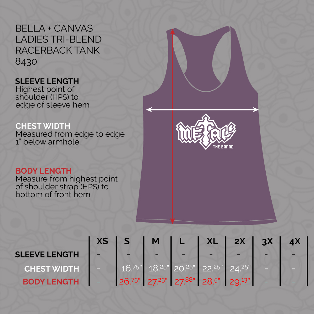 Shop Ladies Racerback Tanks by Metal