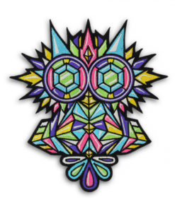 Metal the Brand Crystal Owl Embroidered Patch