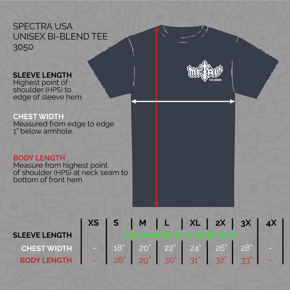 Spectra 3050 Sizing Chart